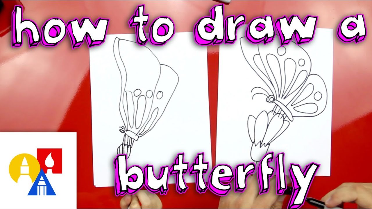 how to draw a butterfly on a flower youtube