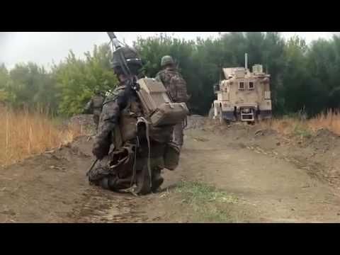 US Marines  Security Patrol Afghanistan