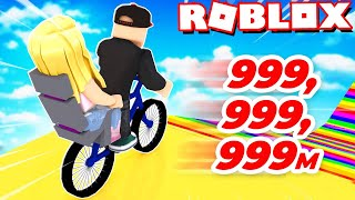 WE SLIDE THE BIKE 999,999,999 METERS DOWN! (Roblox Happy Wheels) | Vito and Bella