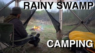 Swamp Camping In The Rain