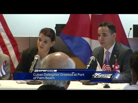 Cuban delegates greeted at Port of Palm Beach