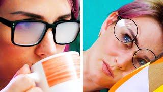 المعاناة اليومية لأصحاب النظارات || حيل مفيدة لأصحاب النظارات