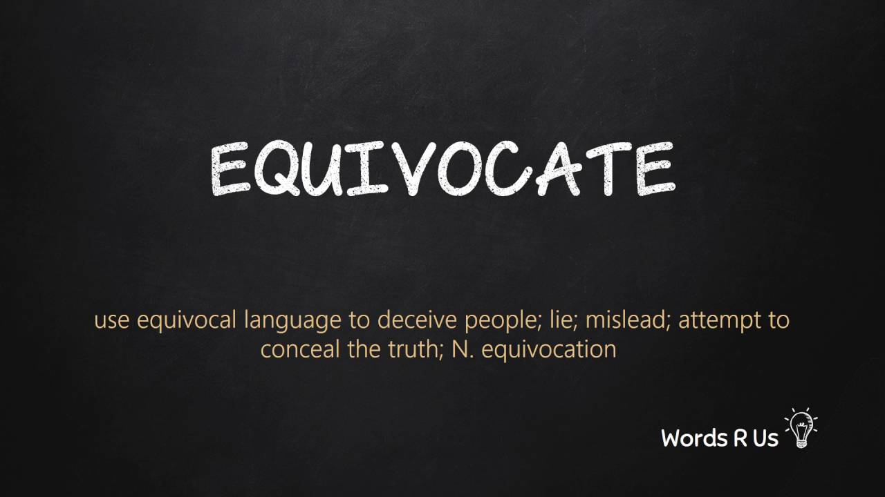 How to Pronounce EQUIVOCATE in American English - YouTube