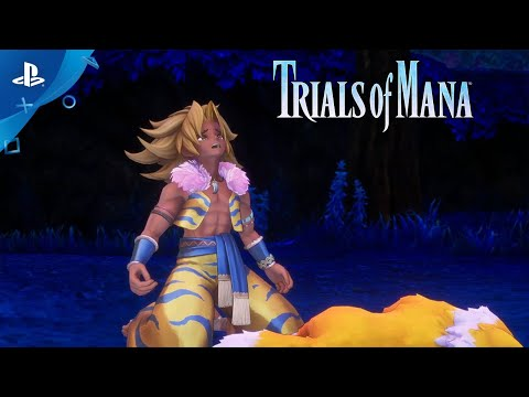 Trials of Mana – Character Spotlight Trailer: Charlotte & Kevin (2/3) | PS4