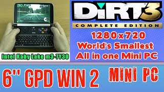 GPD WIN 2 DiRT 3 Complete Edition (PC) on Handheld Mini PC - 256 GB SSD 8GB RAM Intel m3-7Y30 HD 615