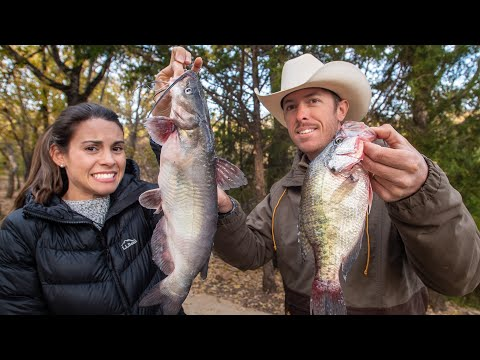 CATFISH Vs CRAPPIE (Fish Cook Off Challenge With Wife!)