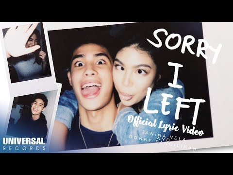 Janina Vela and Donny Pangilinan - Sorry I Left (Official Lyric Video)