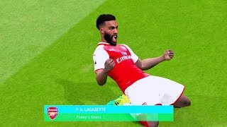 Arsenal vs Leicester City 4-2 (Lacazette Scored 2 Goals) 11 August 2017 Gameplay