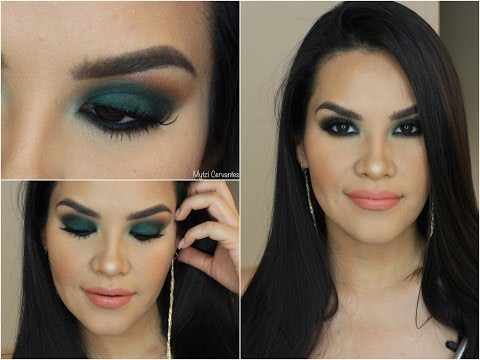 Maquillaje Ahumado en Verde / Green Smokey eye |  Mytzi Cervantes