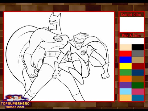 Batman Coloring Pages For Kids Batman Coloring Pages Games YouTube