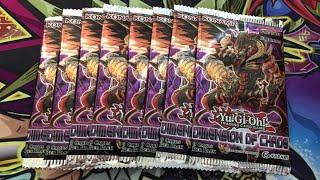 Yugioh Dimension of Chaos 8 Packs Opening