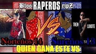 Raperos Norteños vs Raperos sureños [ mara vs euge mc, remik gonzalez, tren vs adan zapata