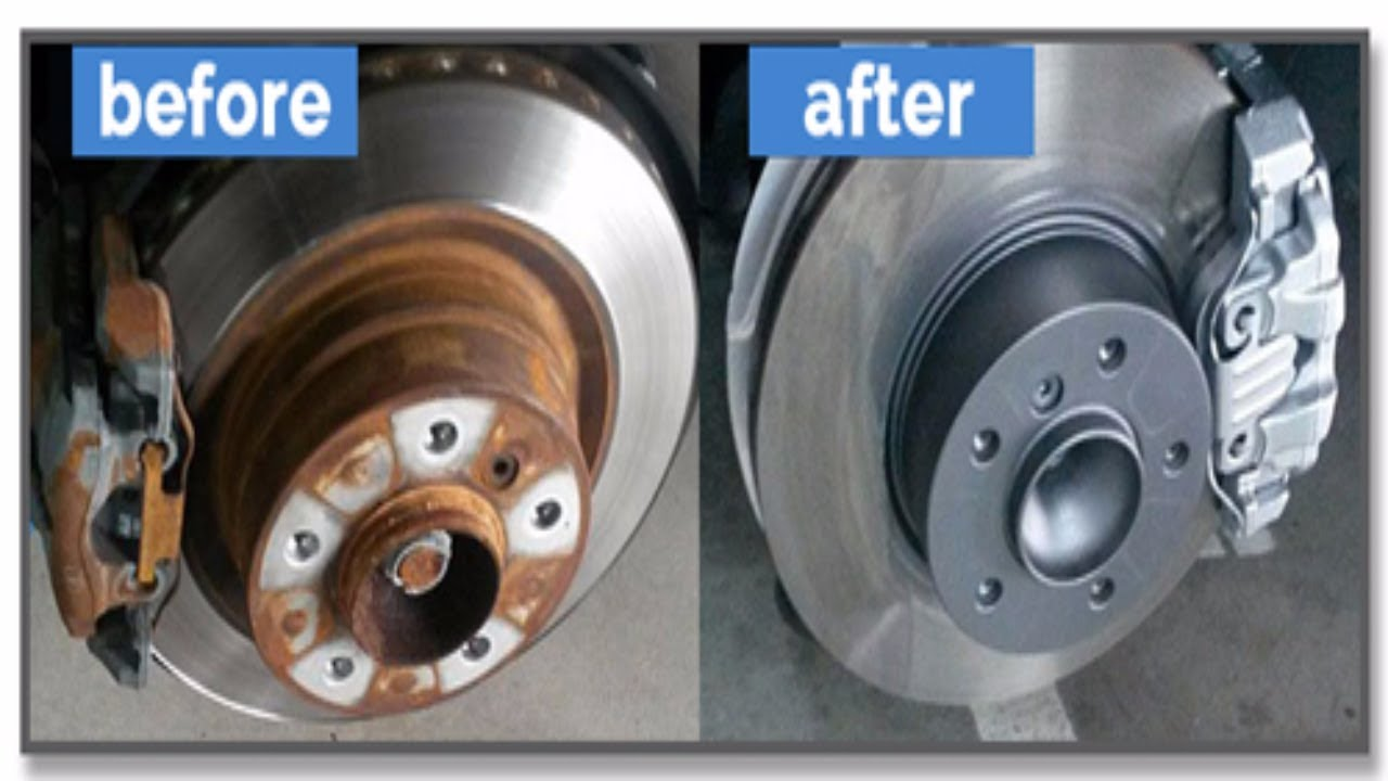 Drum Brakes Vs Disc Brakes >> Best Way to Remove Rust From Rotors / Rusty Brakes - YouTube