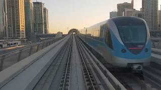 Метро в Дубай - Плавный ход, 83 км/ч, красивый вид!