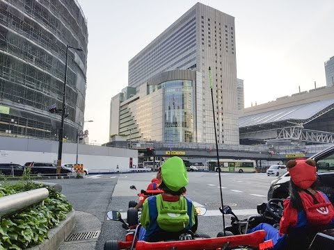 Mario kart in Osaka (real life maricar) by using DJI OSMO