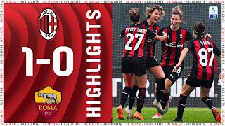 Highlights | AC Milan 1-0 Roma | Matchday 8 Women's Serie A 2020/21