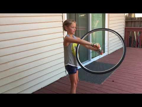 Bicycle Wheel Gyroscope  - Wonders of Physics experiment