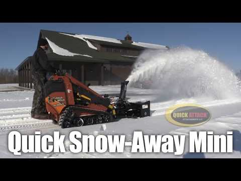 quick snow away mini snow blower