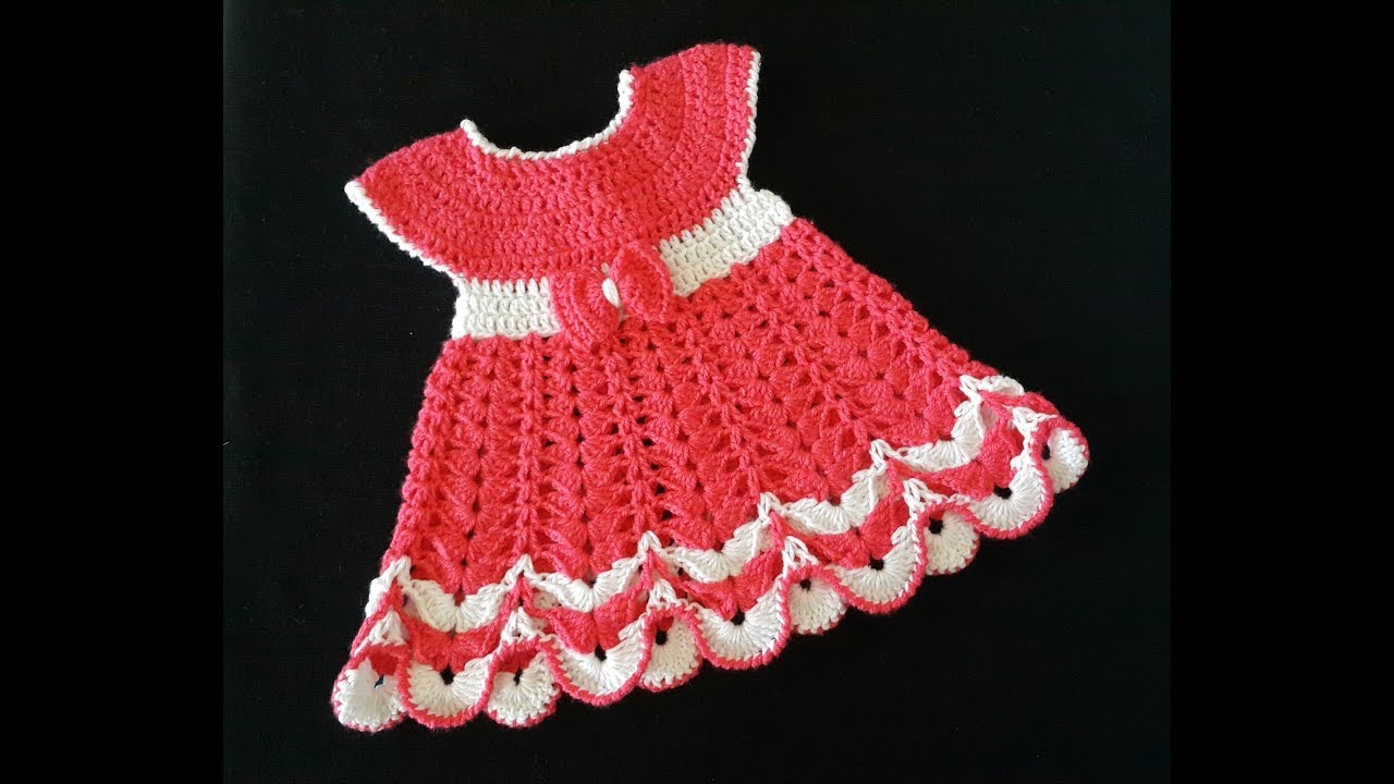 ecceeb3e3450a طريقة عمل فستان طفلة من عمر ثلاثة شهور الى سنة - YouTube