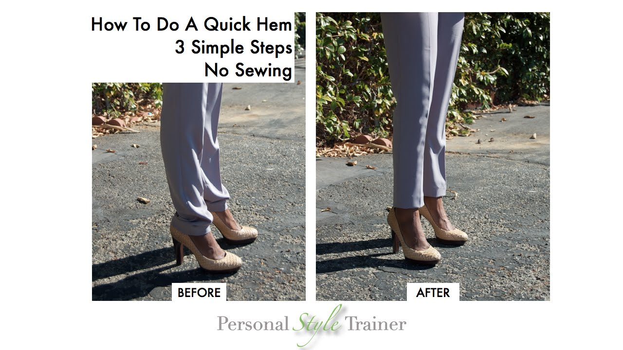 How to do a quick hem without sewing youtube ccuart Image collections
