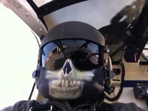 Us Army Hgu 56p Flight Helmet With Face Mask Youtube
