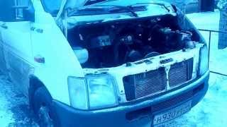 Volkswagen LT-46.2.5 TDI. Cold start! Diesel! Дизель ! Запуск минус 30 !