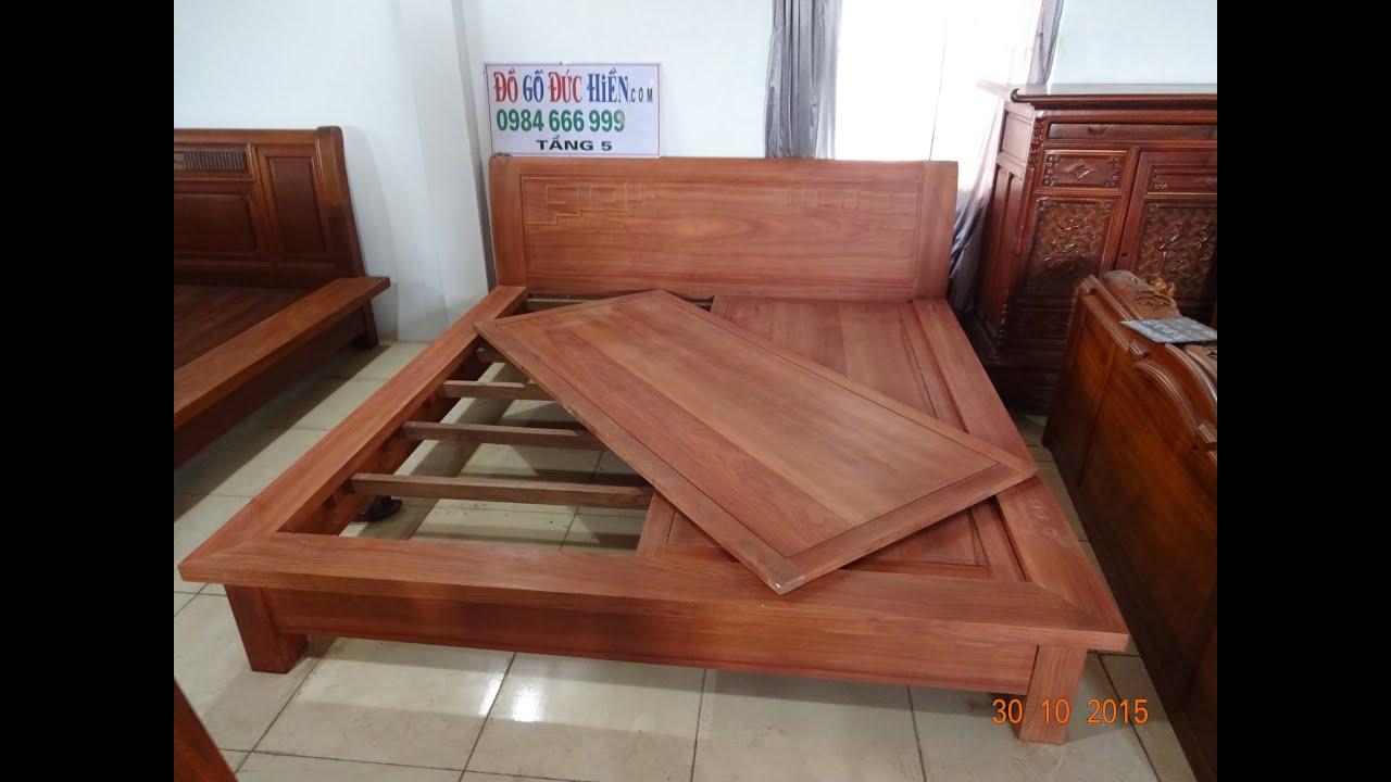 Cách lắp giường Nhật ( 36 tr, đồ gỗ đức hiền ) , gỗ hương, chị Viên Tâm SG