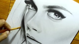 Drawing Portrait of Cara Delevingne | TCA