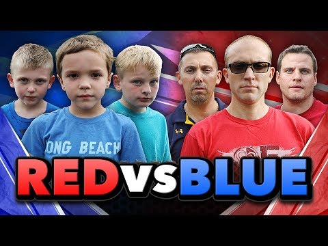 Nerf War:  Red vs Blue