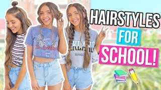 Easy + HEATLESS HAIRSTYLES For Back To School 2017!