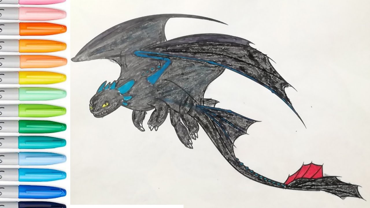 Stormfly Coloring Book Page How To Train Your Dragon SAILANY