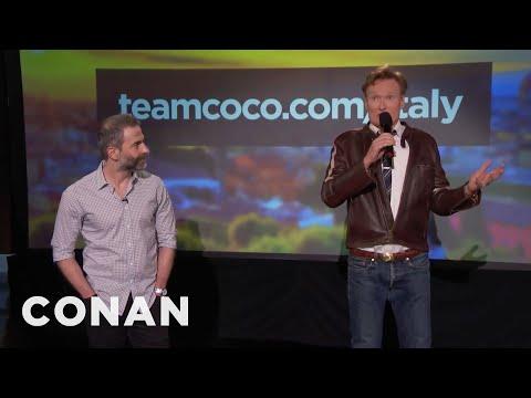 Q&A: Conan Followed Jordan's Itinerary In Italy  - CONAN On TBS