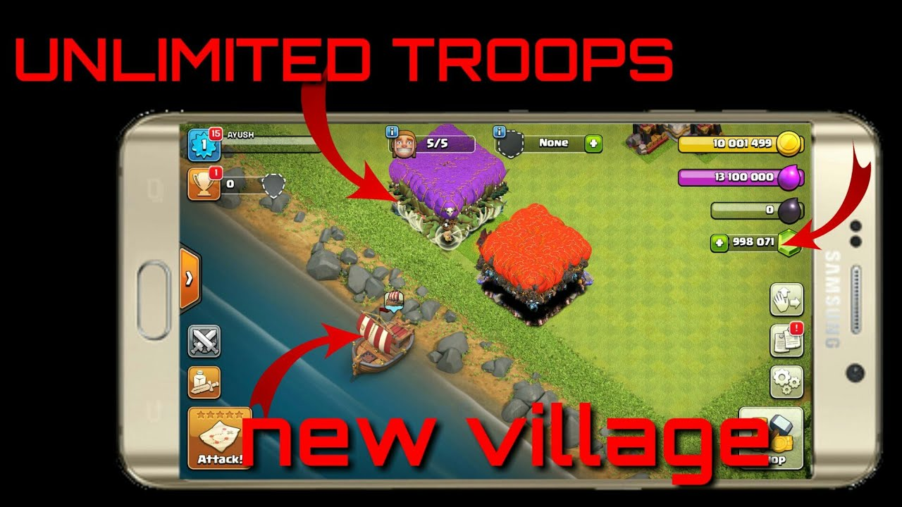 clash of clans private server unlimited troops download latest version
