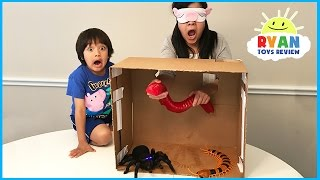 Download What's in the Box Challenge Parent vs Kid with Ryan ToysReview Mp3 and Videos