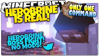 Minecraft HEROBRINE SIGHTING | Herobrine Machinima Fight | Only One Command (Minecraft Vanilla Mod)