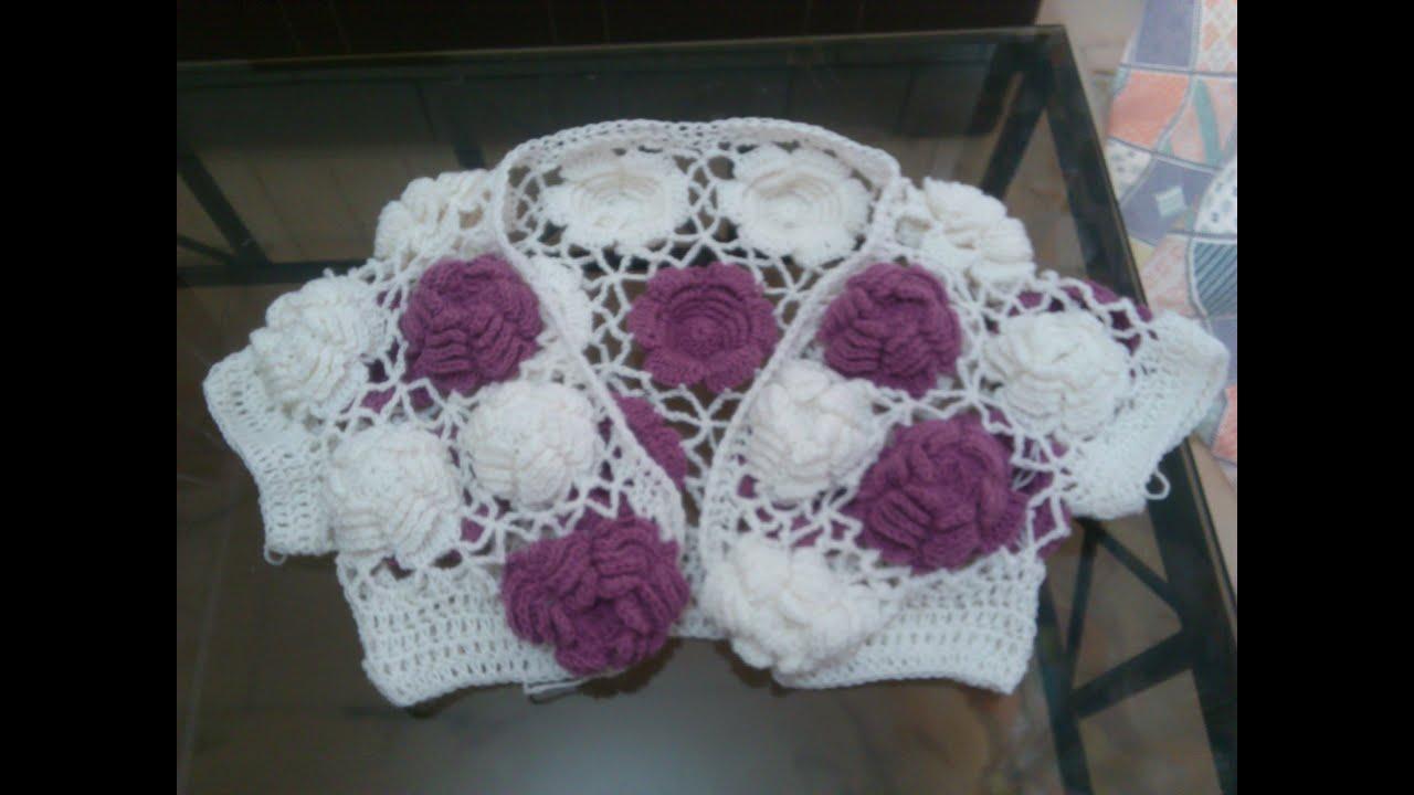 Big Rose Crochet Top Tutorial PART 2 - YouTube
