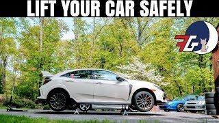 The Honda Civic Type R is a tricky car to LIFT   Here's HOW to lift YOUR car SAFELY
