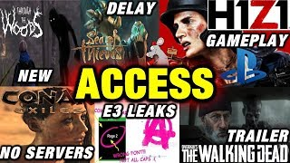 H1Z1 PS4 Gameplay! Conan Exiles No Servers - Sea Of Thieves Delay - E3 Leaks - Walking Dead Trailer!