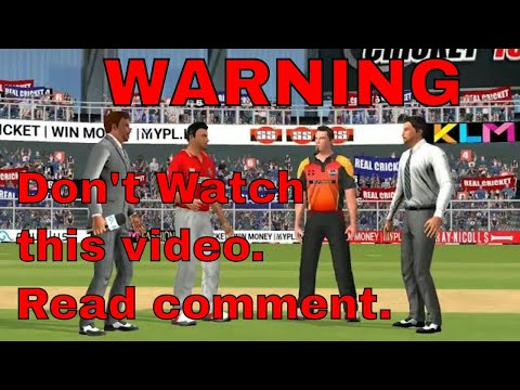 7th May IPL 11 Sunrisers Hyderabad Vs Royal Challengers Bangalore Real cricket 2018 mobile Gameplay