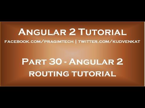 Angular 2 Tutorial
