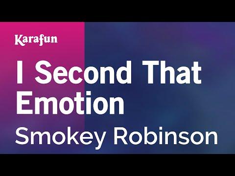 Karaoke I Second That Emotion - Smokey Robinson *