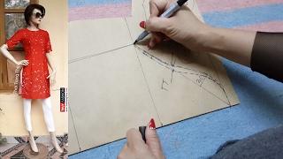 Hướng dẫn thiết kế Áo Dài Cách Tân tay áo Phần 3 tại Thời Trang Thủy | Áo dài Việt Nam