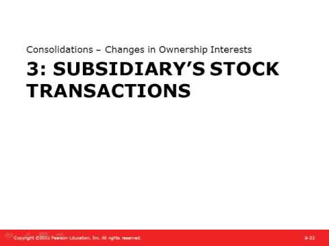 Chapter 8 Presentation Consolidations   Changes In Ownership Interests with Lecture