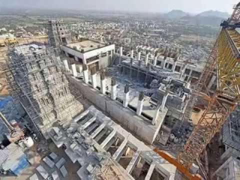 YadagiriGutta Temple Construction Works Latest | works at Yaadadri Temple | NEWS INDIA TELUGU