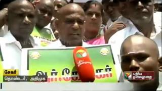 ADMK Members Fulfill Vow By Shaving Their Heads