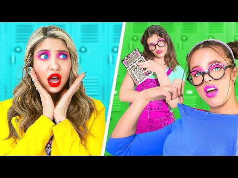 Nerd vs Nerd | How to Be Cool and Popular in College | Fun School Moments by La La Life Musical