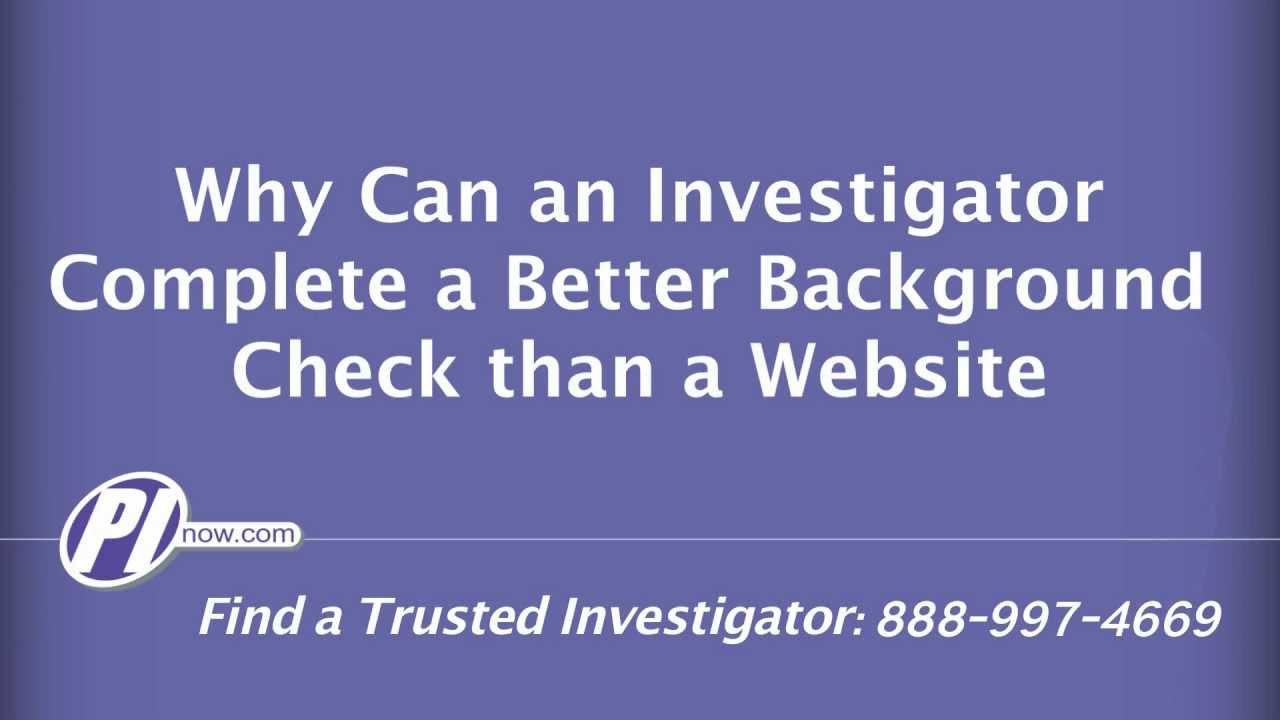 Background Checks Investigations - PInow com