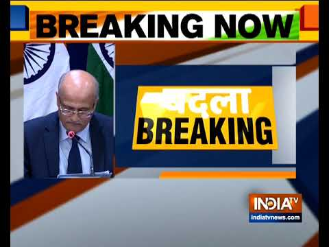 Foreign secretary Vijay Gokhale briefs the media about airstrike IAF conducted across LoC