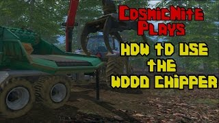 Farming Simulator 15 :- How To Use The Wood Chipper -:
