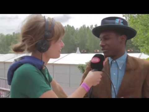 Interview Leon Bridges (Rock Werchter 2015)